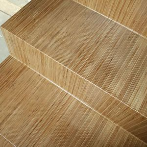 Birch ply stairs - laminated over 60 layers of 90mm birch