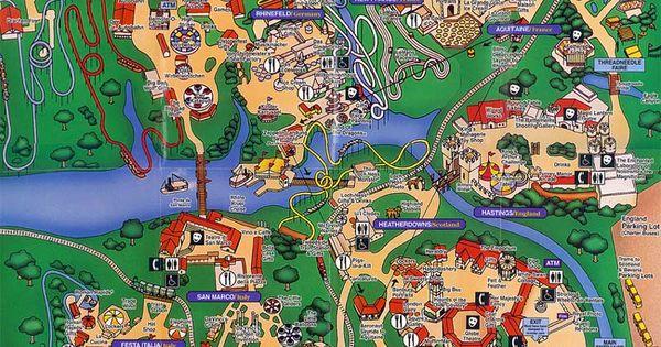 Busch Gardens Williamsburg 1997 Map Theme Park Maps