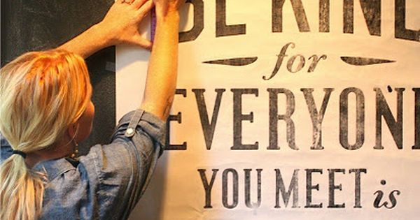 chalkboard wall lettering tips - love this! I'm planning on painting a