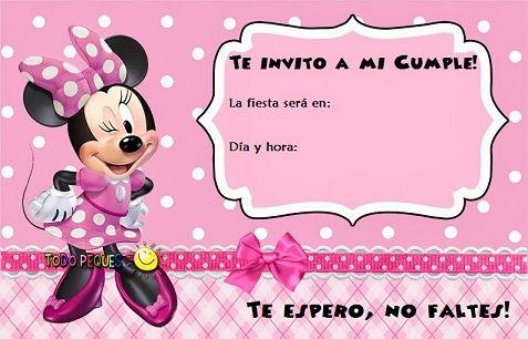 Tarjeta De Cumpleaños Gratis De Minnie Zebra Imagui