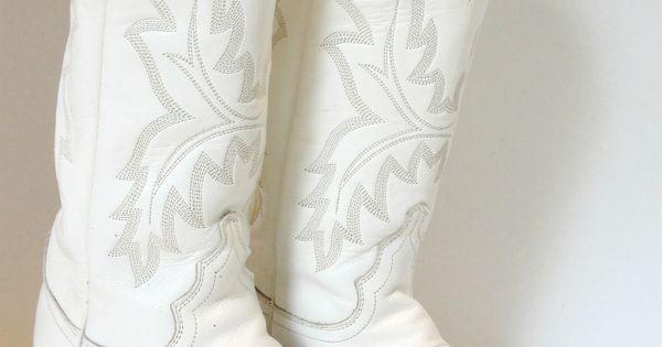 White Cowboy Boots Wedding Ideas Pinterest White