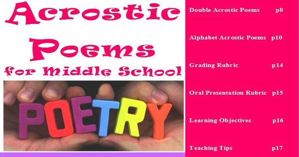 Think read write acrostic poems