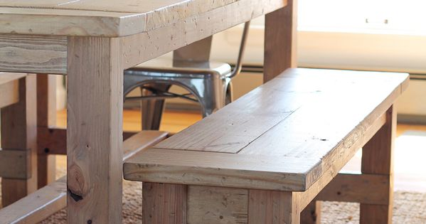 DIY Farmhouse Bench | Farmhouse bench, Small dining rooms and Small dining
