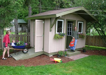 Double Entry 12 X 8 12x8shedplans Shed Play Houses Backyard Decor