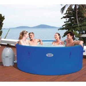 Bestway Lay Z Spa Monaco 54113 Portable Inflatable Hot Tub