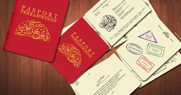 6 Kad Kahwin Terunik Kad Kahwin Passport Wedding Wedding Cards
