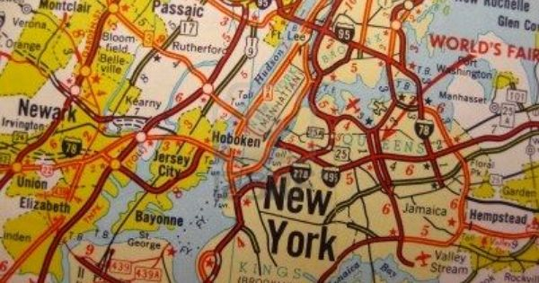 Map Of Nyc New York City Pinterest Vintage Maps Garden State Plaza And Travel Maps