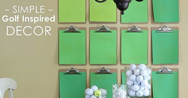 Simple golf course inspired wall and home decor ideas parties pinterest golf golf - Home decoration courses decoration ...