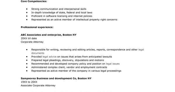 resume creative corporate attorney and career objective plus - corporate attorney sample resume