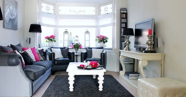 Woonkamer with zomerse, Roze accenten  Living  Pinterest