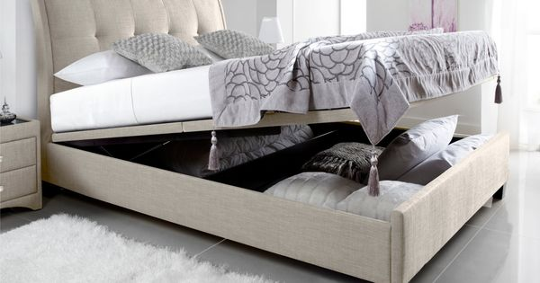 SECOND CHOICE / BUT NEED MATTRESS *** Kaydian Accent Upholstered Ottoman  Storage Bed - Oatmeal Fabric - Ottoman Beds - Storage Beds - Beds (154cm) … - SECOND CHOICE / BUT NEED MATTRESS *** Kaydian Accent Upholstered