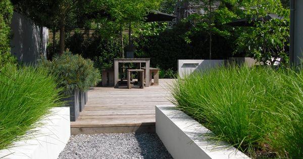 Moderne tuin vijver hovenier hoofddorp tuin pinterest tr dg rdsdesign tuin och inspiration - Deco moderne tuin ...