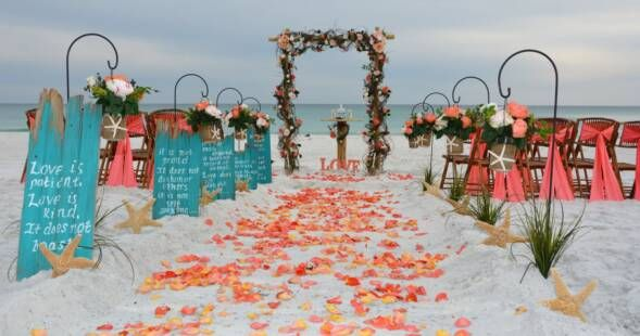 Pin By Megan Hebert On Projects To Try Beach Wedding Decorations Beach Wedding Packages Beach Wedding Decorations Reception