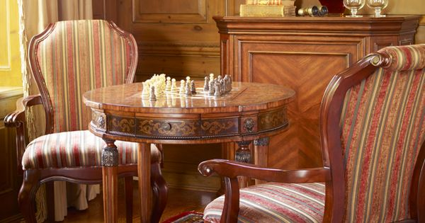 Watford game table with radcliff accent chairs bombay for Table watford