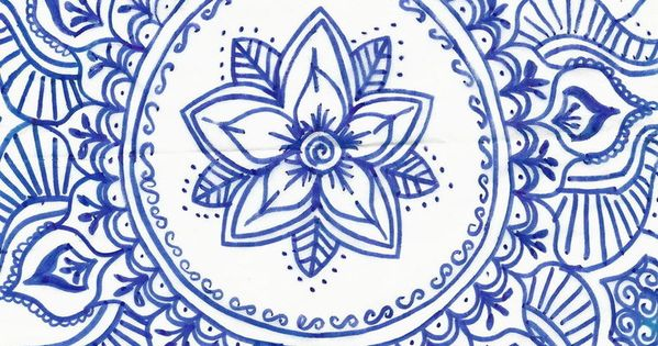 Blue mandala by blackbeltvampyre on deviantart drawing for Drawing on wax paper