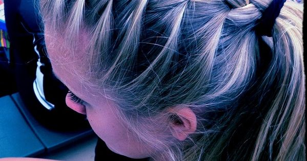 French braid ponytail!! Cute volleyball hairstyle