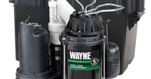 Wayne 1 2 Hp Battery Backup Sump Pump System Sump Pump Sump Home Repair