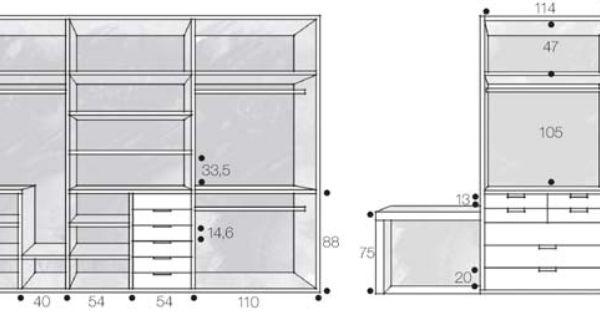 Medidas De Closet Buscar Con Google Interiors Closets