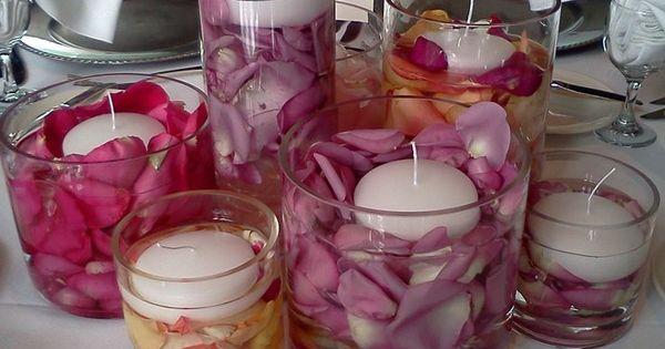 Rose petal centerpieces for weddings google search