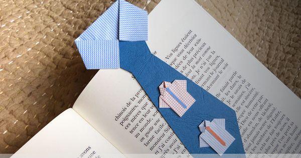 bricolage f te des p res marque page cravate imprimer d coupage pliage bricolage. Black Bedroom Furniture Sets. Home Design Ideas