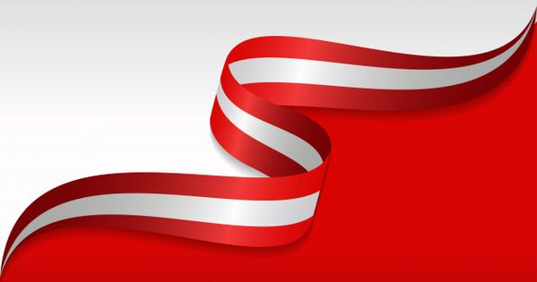 Abstract Wavy Flag Of The Austrian With Ribbon Style Wavy Flag Background Design Vector Simple Background Images Background merah putih hd png