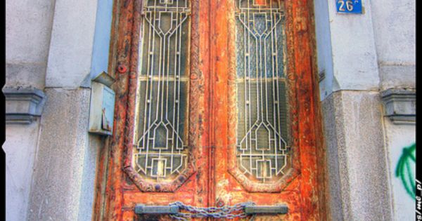 Old wooden door, Pigada, Piraeus, Greece (why am I so obsessed with