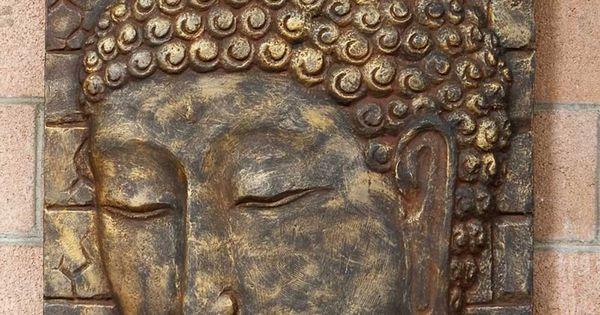Large Buddha Panel: Large Handmade Buddha Wall Panel - Wall Hangings