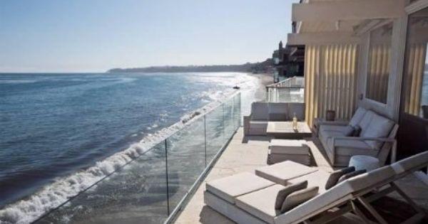 Her House On The Beach Malibu Beach House Dream Beach Houses Waterfront Homes
