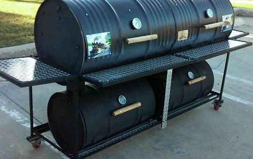 110 double barrel smoker grill smokers grills pinterest barrel smoker double barrel and. Black Bedroom Furniture Sets. Home Design Ideas
