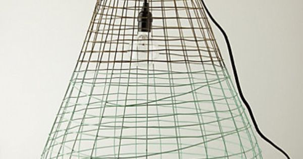 Woven Wire Pendant Lamp #anthropologie | Light Hearted ...