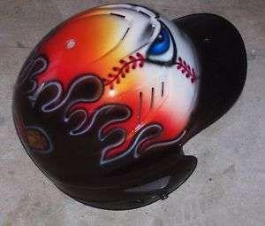 Airbrushed Baseball Helmets Designs Airbrush Personalized T Shirt Baseball Bat Design With Name Number Batting Helmet Helmet Softball Helmet