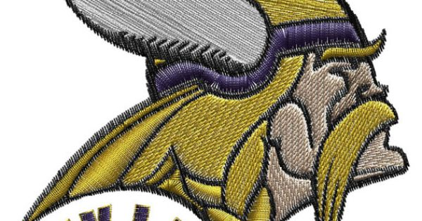 Minessota Vikings Machine Embroidery Design Viking
