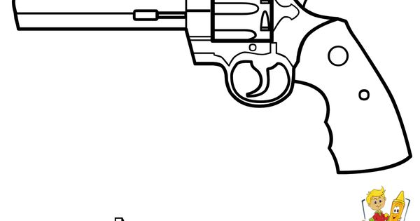 Pages to color for boys guns coloring of revolver gun at for Southern belle coloring pages