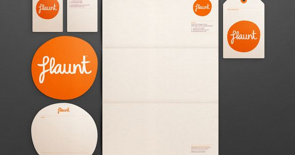 Flaunt brand identity, design by I Like Blue