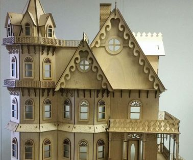 Laser Dollhouse Designs Leon Gothic Victorian Dollhouse Kit 1 12 Scale Doll House Dollhouse Design Dollhouse Kits