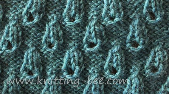 Knitting Yarn Over Purl Stitch : Bud stitch very easy and pretty textured knitting pattern