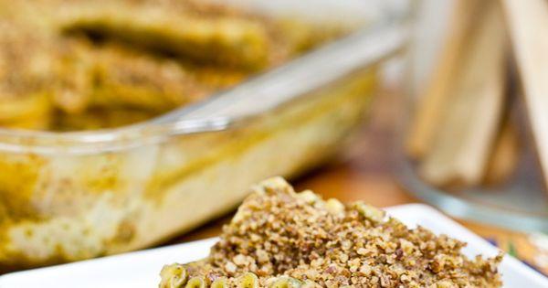Butternut Wild Mushroom Lasagna with Pecan Parmesan by Keepin' It Kind