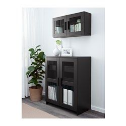 Brimnes Cabinet With Doors Glass Black 30 3 4x37 3 8 Ikea Glass Cabinet Doors Glass Shelves Ikea Cabinet Doors