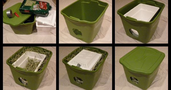 Green Styrofoam Coolers ~ Help a stray keep warm dry large rubbermaid storage box