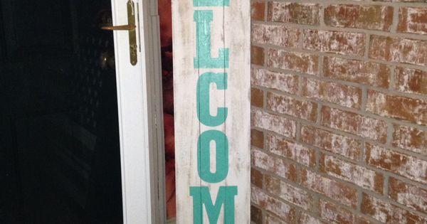 Front Porch Welcome Sign Made From Fence Pickets Okie