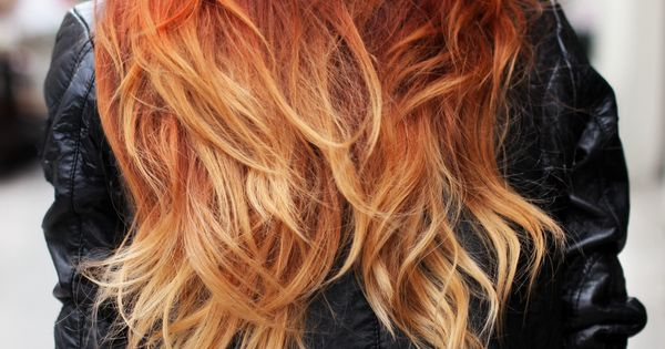 Ombre - love the colors. Twist on the normal brown to blonde.