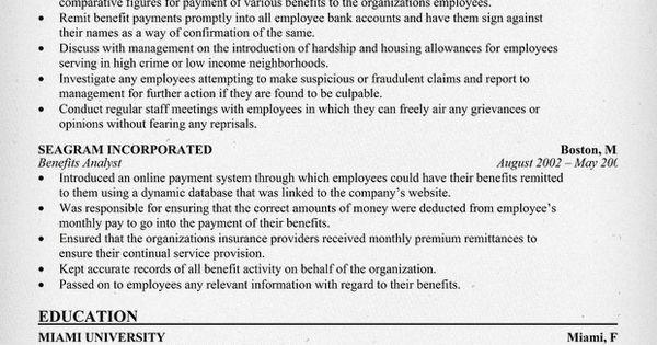 Benefits Administrator Resume Resume Samples Across All