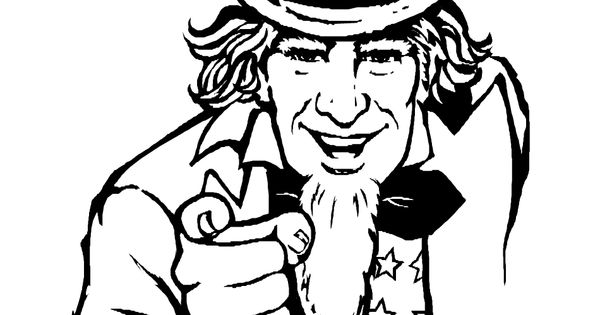Uncle Sam Coloring Page Patriotic Activities Pinterest