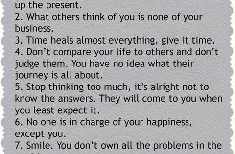 7 life rules!
