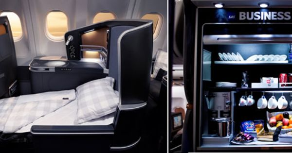 Sas New A330 Business Class Features Hastens Bedding And A Snack Bar Business Class Snack Bar Sas
