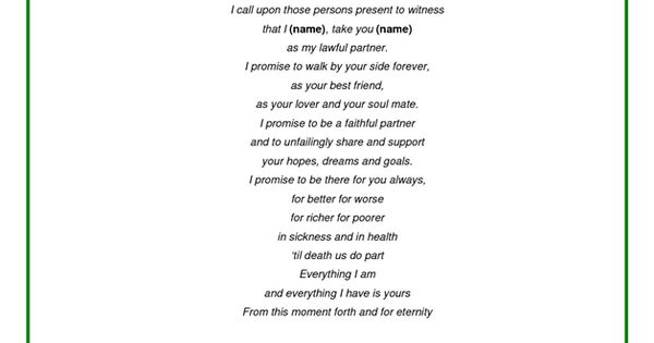 Examples of wedding vows wedding vows and vows on pinterest