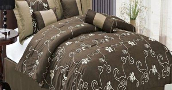 Linens covington 11 piece bed in a bag pillows throws bedding
