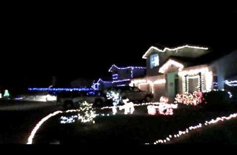Drum Roll Please Talk About Spreading Christmas Cheer Neighbors In Murrieta Ca Synchron Blue Christmas Lights Christmas House Lights Christmas Light Show