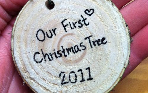 our first Christmas tree ornament so cute!