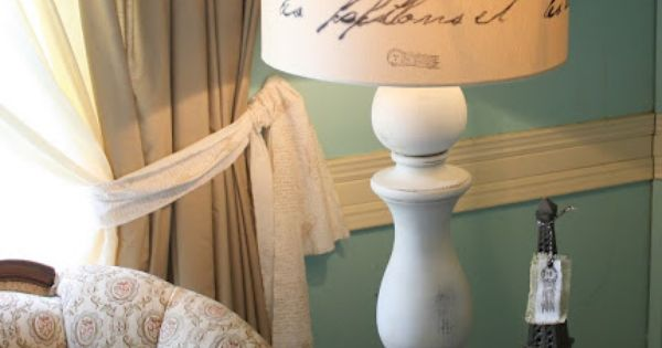 diy vintage lamp - love the lampshade!!!!!